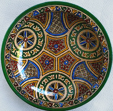 Moroccan Plate with geometric patterns