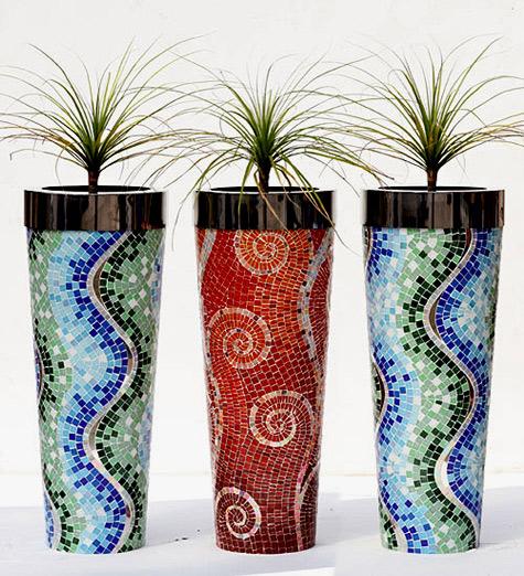 Mosaic garden planters Obbligato Decor