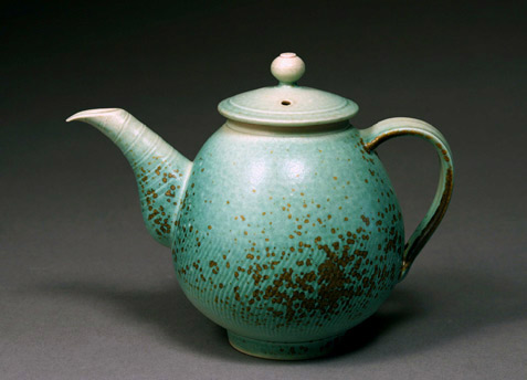 Green speckled Teapot Hsinchuen Lin