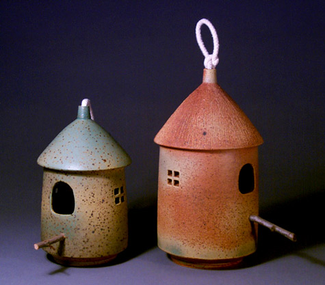 Two Ceramic Bird house Hsin-Chuen-Lin