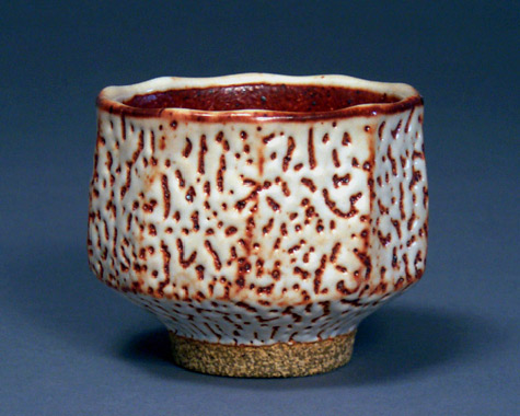 Footed Shino Bowl by Hsin-Chuen-Lin