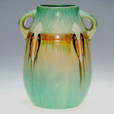 American Roseville Montacello vase with twin handles