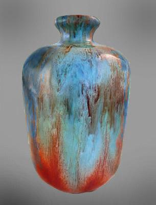 Theodore Deck flambé glazed vase