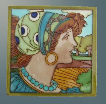 Charlotte Read ceramic tile art nouveau