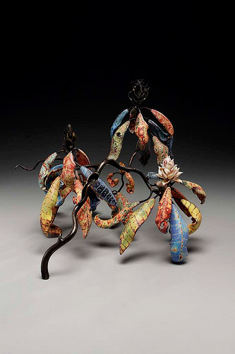 Michael Sherrill ceramic pottery flower art