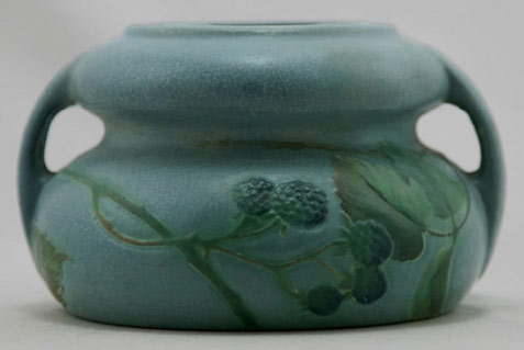 Weller Fru Russet urn/vase with twin handles