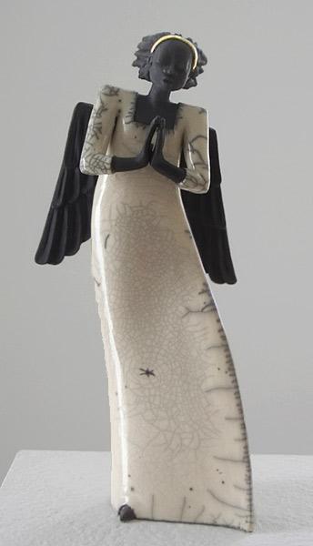 Engel Raku Keramik figure
