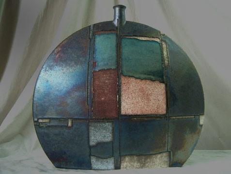 Emili Biarnes Studio Art Pottery Sculptural Modernist Vase