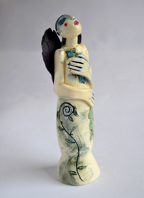 ceramic figure HeartBird