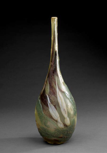 Meisenthal Cristallerie glass Vase
