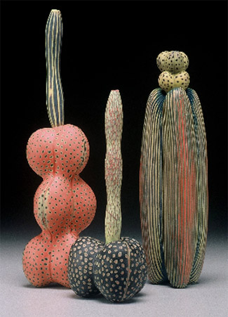 ceramic-cacti-sculptures Micheal Sherrill