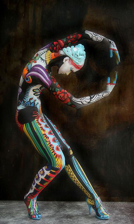 Photography-by-Ciucciapunti-(Federico-Rossi)-(art,body-art,colorful,federico-rossi,photography,body-painting,model,beautiful,girl)