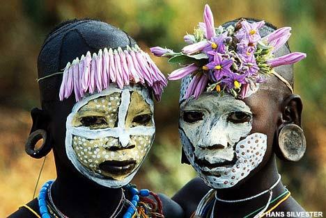Face Art Omo Valley, Southern Ethiopia