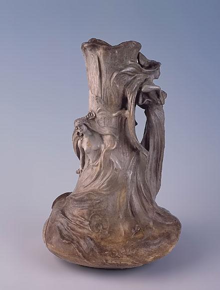 Friedrich Goldscheider Art Nouveau vase