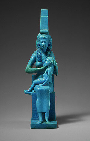 Isis and Horus Statue