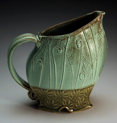Christy Knox green glazed juice jug