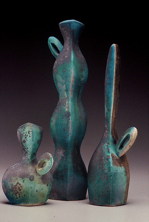 3 ceramic vessels MichaelSherrill