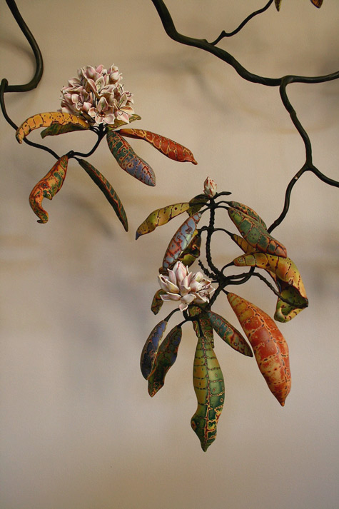 Michael Sherrill ceramic floral arts - Descending Rhododendron