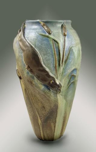 Ephraim pottery Art Nouveau Vase