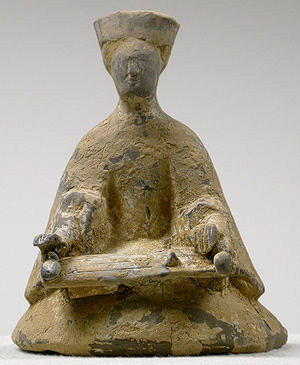 Ancient Se player, sculpture from the Han dynasty