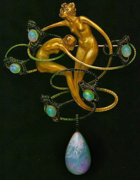 French Rene Lalique- Art nouveau brooch