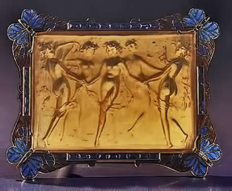 brooch-depicting-dancing-nymphs-in-a-frame-of-butterflies-gold-enamel-sapphires-and-horn