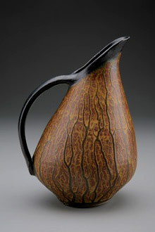 Bruce Johnson brown glazed jug