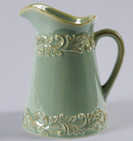 Butter-Bell-Green Antique-Pitcher