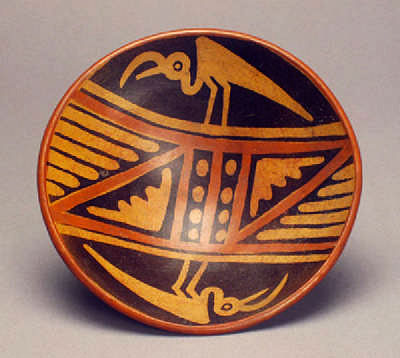 Cocle-Bowl-1200AD ith bird motifs