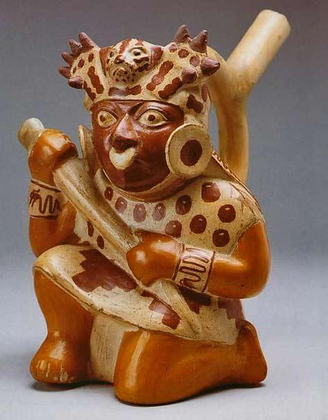 Culture-Moche---Crouching Warrior-Peru