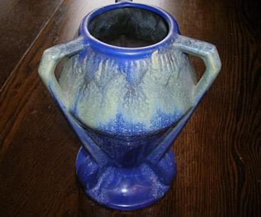 Belgium tri handled vase