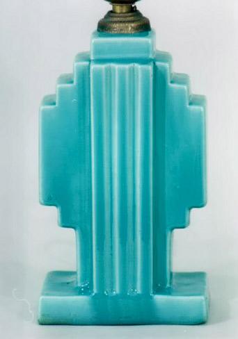 Deco lamp turquoise Strangl
