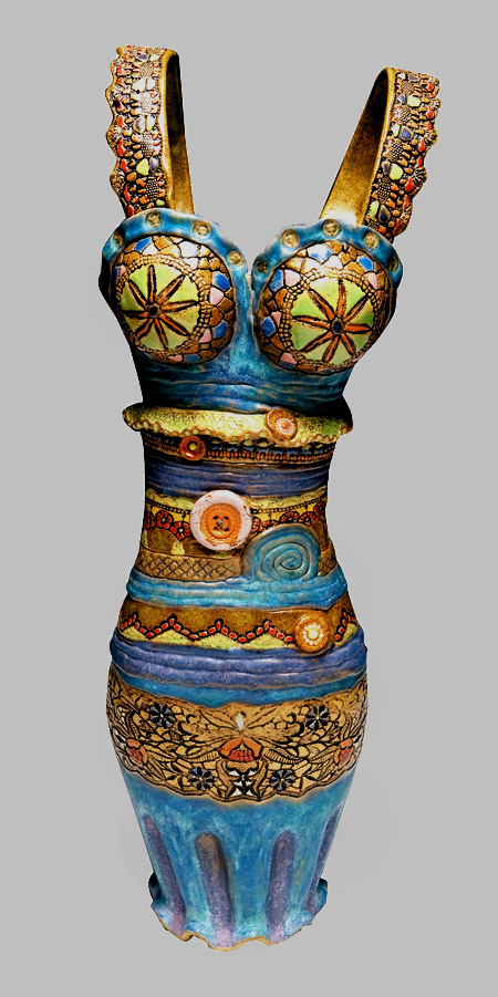 Ceramic dress by Laurie Pollpeter Eskenazi
