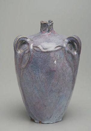 Lavendar-blue glaze Art Nouveau vase Edmond Lachenal