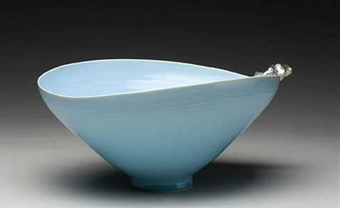 Jin-Jang - pale turquoise glaze contemporary bowl