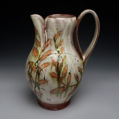 Martina Lantin jug with botanical decoartion