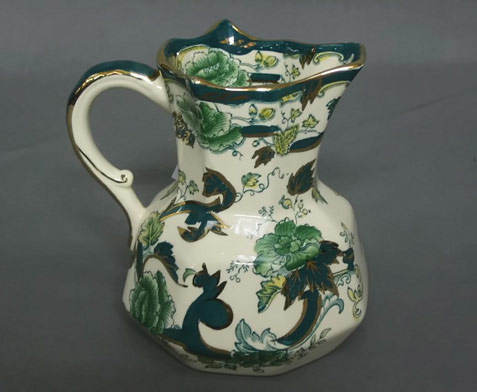 Masons-green-glazed jug