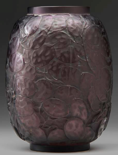 Plum coloured vase - Rene Lalique