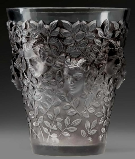 Silenes vase - Rene Lalique Rene Lalique - clear and frosted glass with gray patina, c. 1938