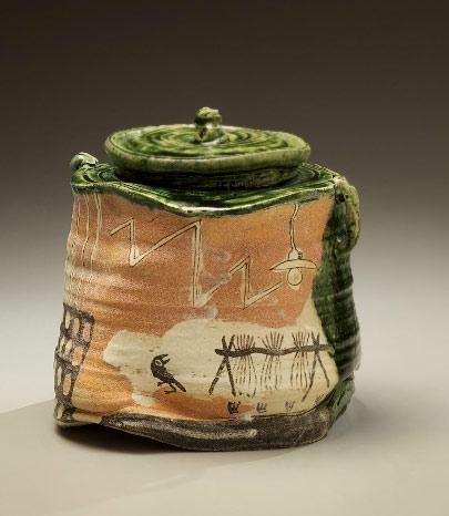 Narumioribe water jar, 1999 - Suzuki Goro