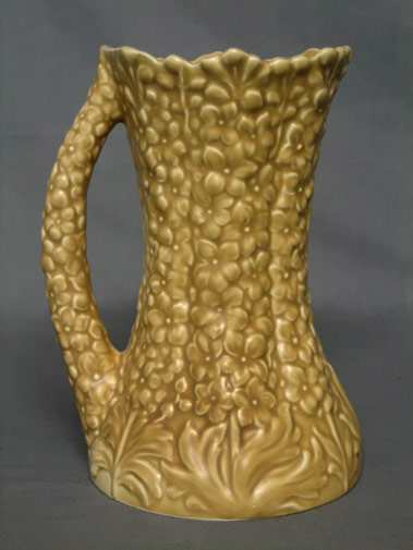 Sylvac-style-brown-glazed mottled texture jug