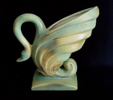 Art Deco swan vase
