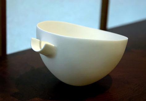 Ryota Aoki - white porcelain bowl