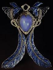Rene Lalique purple brooch