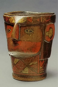 Kero-face motif drinking cup