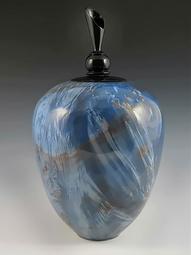 Dale Cook ceramic blue jar