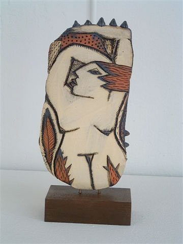 Charmaine Haines handpainted sculpture