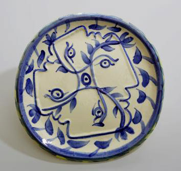 4 Faces Picasso Ceramic plate