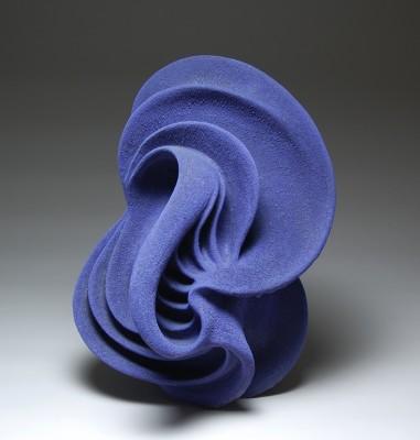 Casey Hochhalter blue sculpture