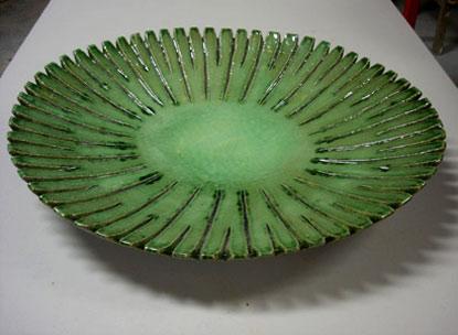 Debra Boyd-Goggin - green ceramic round platter